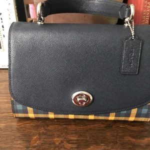 Coach Tilly Top Handle Satchel w/ Gingham pattern